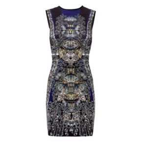 Clover Canyon Russian Enamel Print Scuba Dress